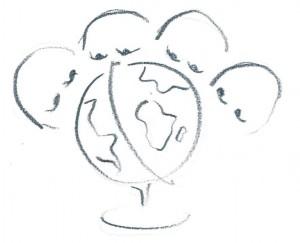 Wie schauen auf die Welt
